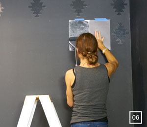 How To Create Wall Stencils With Matt Gloss Paint Taubmans